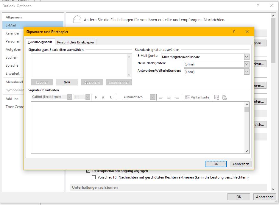 Microsoft Outlook 2013 Automatische Signaturen Erstellen