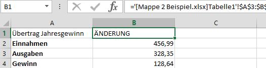 Excel Tabellen verknüpfen und automatisch aktualisieren