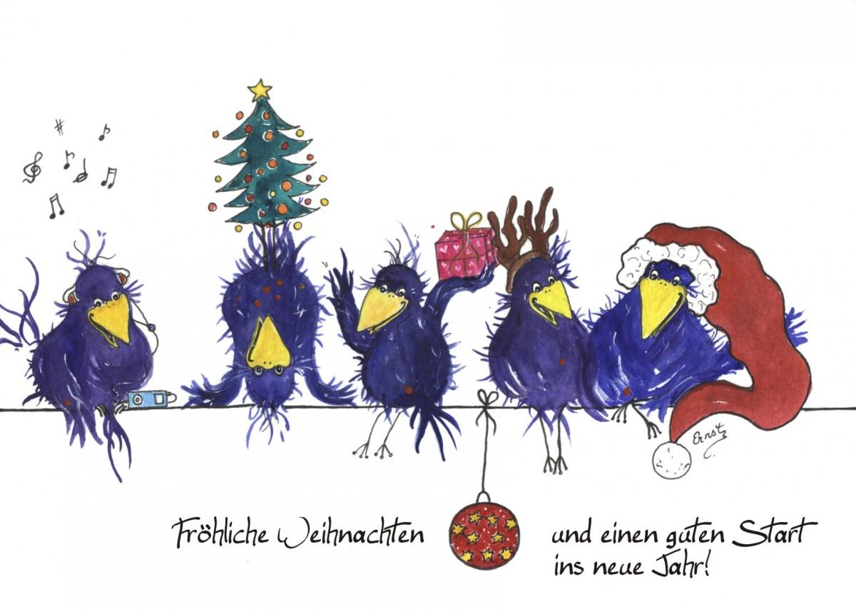 Fr hliche weihnachtsgr e kostenlose weihnachtskarten zum - Weihnachtskarten drucken gratis ...